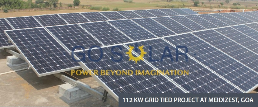 112 KW Grid Tied Project at Meidizest, Goa